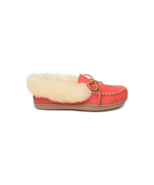 75TH ANNIVERSARY ALPINE SHEEPSKIN MOC Raspberry【35702381】