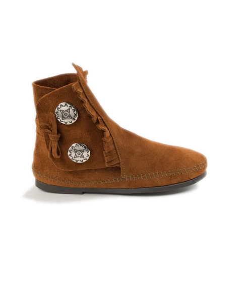 TWO BUTTON HARDSOLE BOOT Brown【37111020】