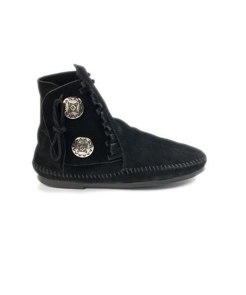TWO BUTTON HARDSOLE BOOT Black【37111021】