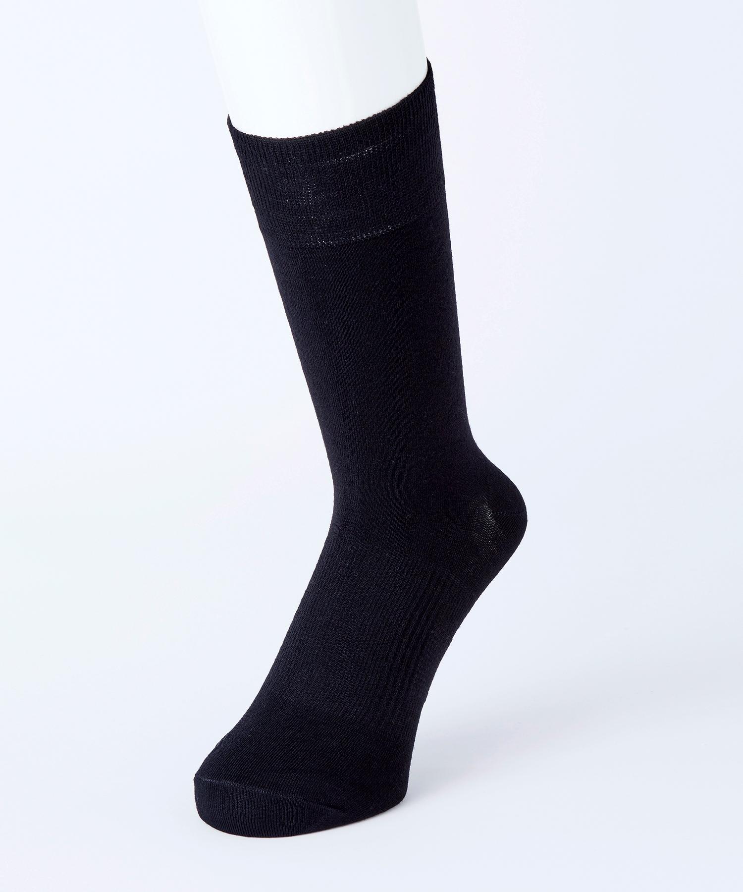 メンズ クルー丈 足底サポート(つま先かかと補強)