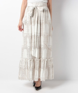 【5-knot】MOROCCAN PRINED SKIRT