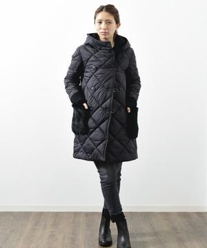 【blanc basque】ナイロンキルトファーポケットコート