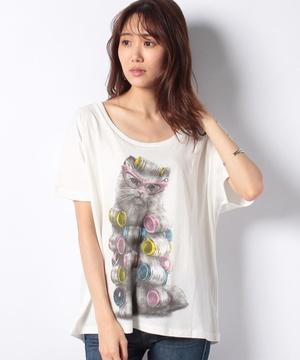 【OII】カールキャットTシャツ
