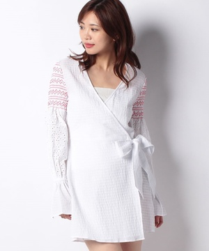 【THE FIFTH】RIVERINE WRAP DRESS