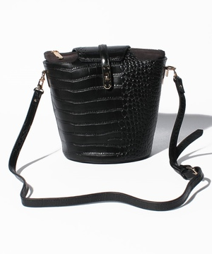 【tov】Croco embossing Bucket Shoulder