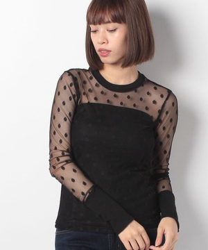 【GHOSPELL】Dotted T‐shir