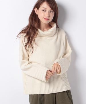 【revinnet】ラムウールオフネックセーター