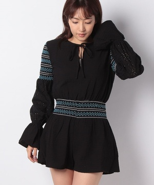 【THE FIFTH】RIVERINE LS PLAYSUIT