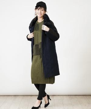 【basque】エターミン×ソフトキルティングコート