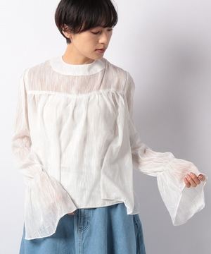 【GHOSPELL】High Neck Teture TOP