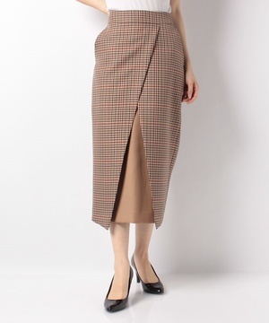 【blanc basque】バレンシアチェック配色切替スカート