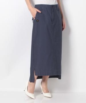 【basque】ムラ染めミリタリーバックサテンスカート