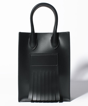 【SOLPRESA】SQUARE FRINGE MINI TOTE BAG