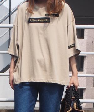 【blanc basque】金糸ワッペンTシャツ