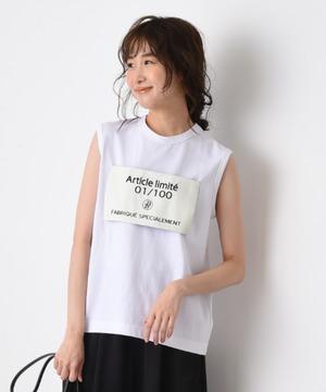 【blanc basque】ノースリ大織ネームTシャツ