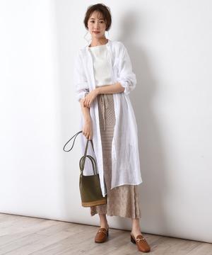 【blanc basque】ラミーローンロングシャツ