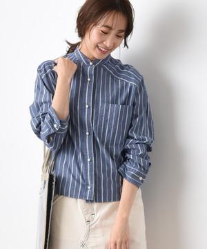 【blanc basque】オーガニックコットンストライプ/マドラスチェックシャツ