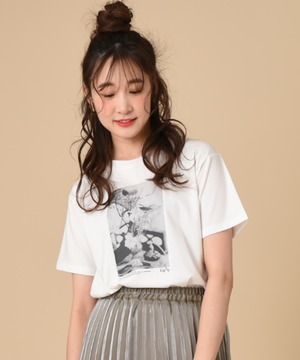 【SOMETHING】PHOTO PRINT T-SHIRT HS