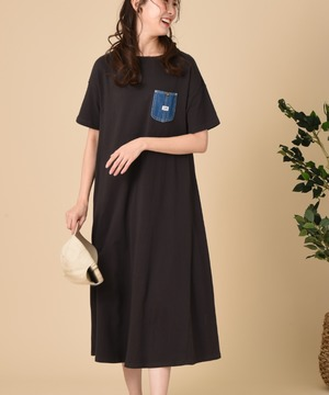 【Lee】DENIMPOCKET FLARE DRESS