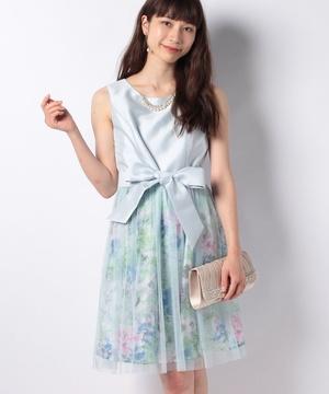 ラメチュール重ね柄ドレス