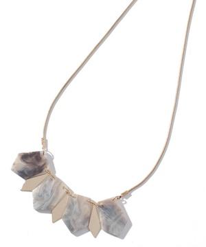 大理石風デザインネックレス