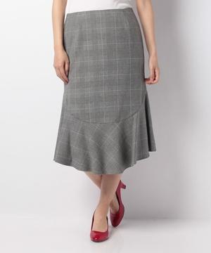 起毛ストレッチフラノデザインスカート