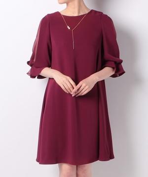 袖デザインAラインドレス