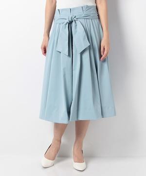 Cウエストリボンフレアースカート