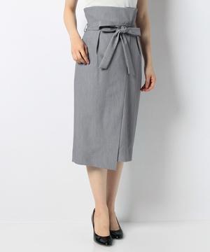 TRギャバストレッチウエストデザインタイトスカート