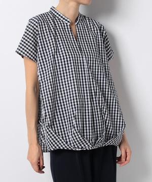 ギンガムチェックタックシャツ