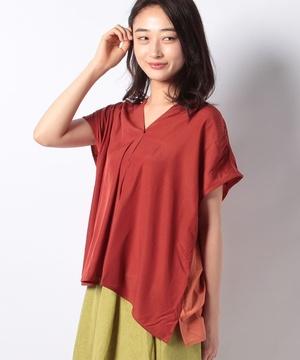 異素材スキッパーシャツ
