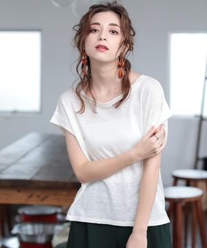 プルミエルリネン100%Tシャツ
