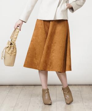 スエードポンチフレアスカート
