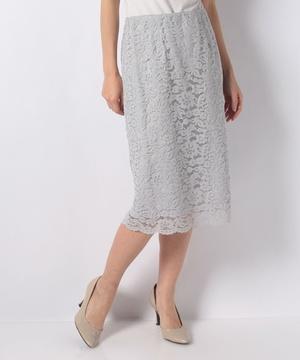 【セットアップ対応商品】ラッセルフラワーレースタイトスカート