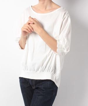 バイオシルケット(消臭・接触冷感)裾ギャザープルオーバー