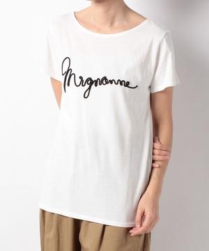 mignonneロープ刺繍Tシャツ