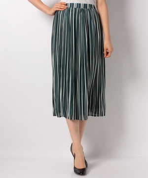 ランダムストライププリーツスカート