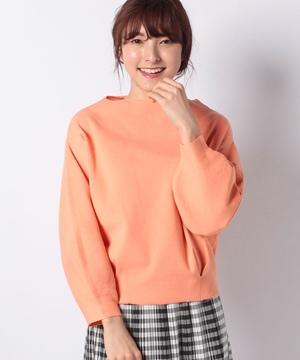 ハーフミラノ裾タックボリューム袖カットソー