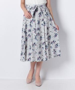 ジョーゼットフラワープリントスカート