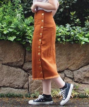 綿ツイルタイトスカート