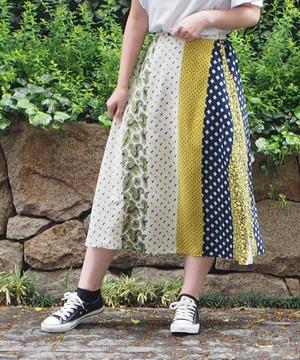 ミックスデシンプリントロングスカート