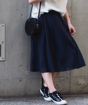 【セットアップ対応商品】麻ライクフレアースカート
