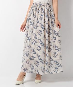 花柄リゾートプリントマキシスカート