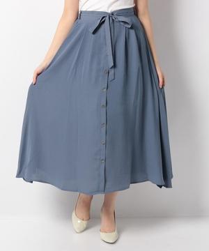フロントボタンフレアースカート