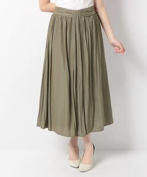 パウダーサテンギャザースカート