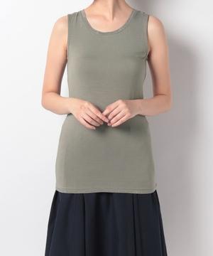 衿・裾キラキラパイピングタンク