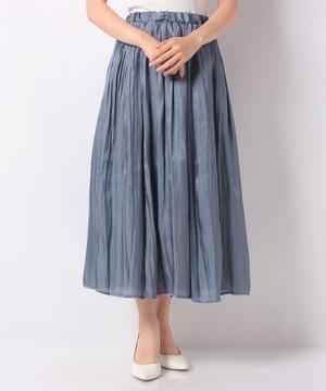 シャイニーデザインプリーツスカート