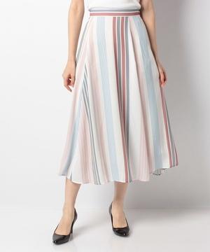 ジョーゼットマルチストライプスカート