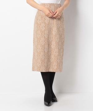 起毛レースボンディングタイトスカート