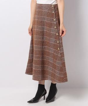 ヴィンテージツイードフレアースカート